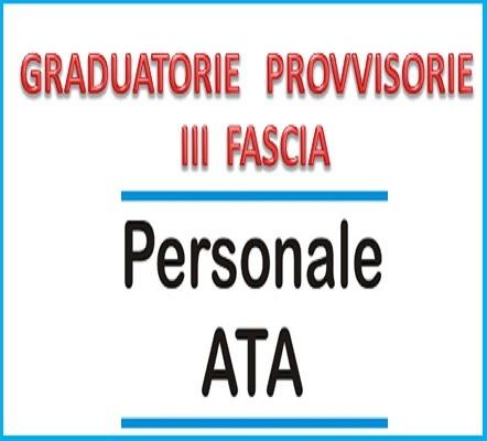 Pubblicazione Graduatorie Provvisorie d'Istituto di terza fascia del Personale A.T.A. per il triennio scolastico 2021/2024. D.M. 50 del 3 marzo 2021.