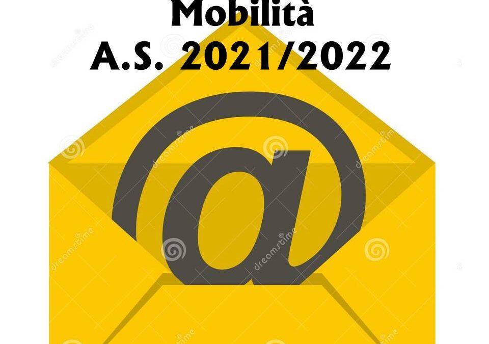 Mobilità del personale docente, educativo ed A.T.A. per l' a .s. 2021/2022
