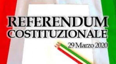 Referendum Costituzionale di domenica 29 marzo 2020 – Disponibilità dei locali scolastici per l'allestimento dei seggi.
